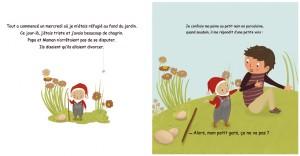 """Illustration en cours, pour un texte d'I. Provost """"Firmin, le nain de jardin"""""""