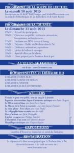 Programme St Rabier