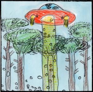 les extraterrestres emportent des pommes de pin ! (Matéo)