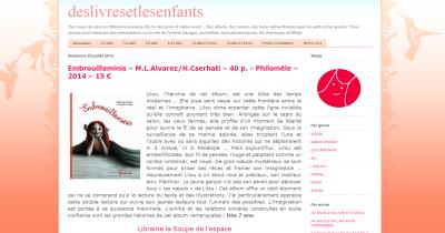 """Note de lecture de Marje, blog """"Des livres et des enfants"""""""