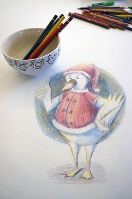 Crayon de couleur sur table de cuisine :D