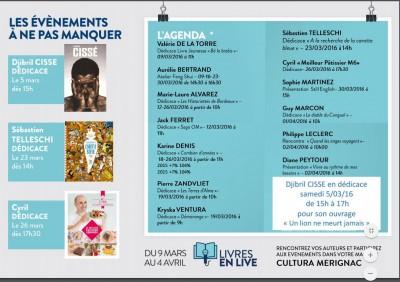 Dédicace Cultura Mérignac