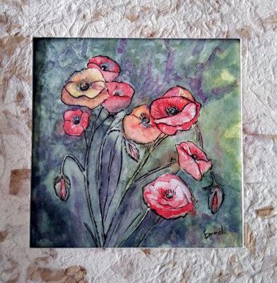 aquarelle 21 - emmel - Fleurs et textures végétales