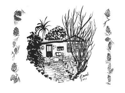 Cabane pomme de pin - Emmel